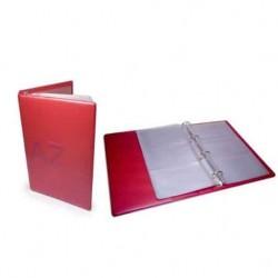 Porte carte de visite APLI à anneaux - 60 cartes - Rouge