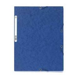 Chemise à rabats cartonnée exacompta - Bleu