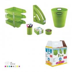 Ensemble de bureau Plastique -8 pièces Ark Vert Pistache