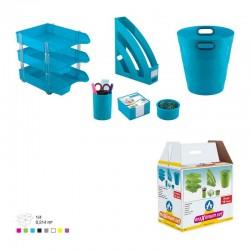 Ensemble de bureau Plastique -8 pièces Ark Bleu ciel