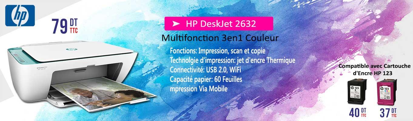 Cliquez Ici , Pour découvrir l'imprimante HP DeskJet 2632 à 75 dinars seulement!