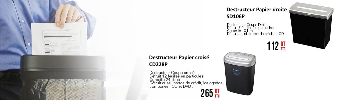 Cliquez ici pour découvrir Nos destruteurs de papier disponibles!