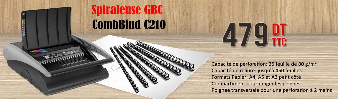 Cliquez Ici , Pour découvrir la Spiraleuse GBC CombBind C210