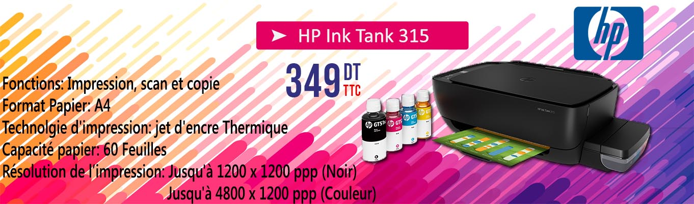 Imprimante HP Ink Tank 315 3en1 Couleur