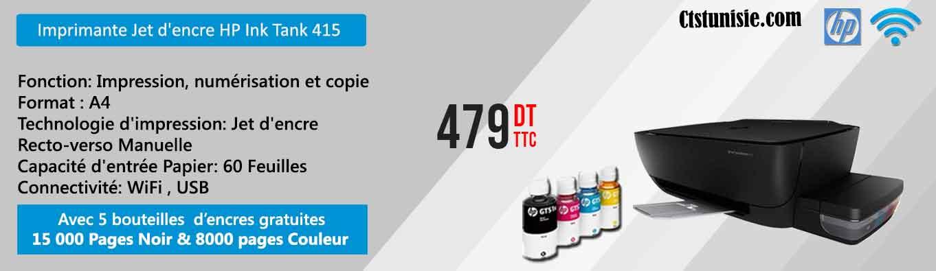 Cliquez Ici pour l'imprimante Jet d'encre HP Ink Tank 415